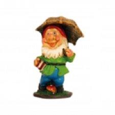 Tuinkabouter klein paraplu bruin (7cm)