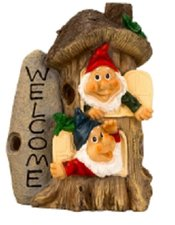 Kabouter paddestoel Welcome (22cm)