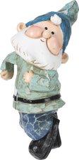 Kabouter die kan hangen aan bloempot  blauw (11 cm)